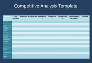 competitor analysis template free competitive analysis template free printable word templates