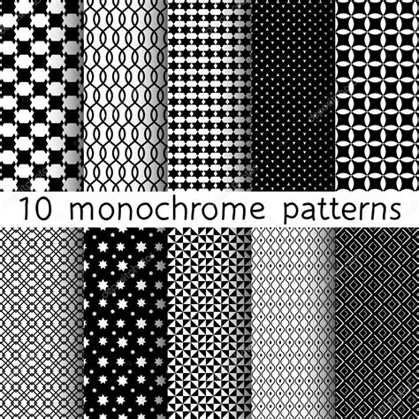 pattern and texture difference 10 monochrome different vector seamless patterns set of