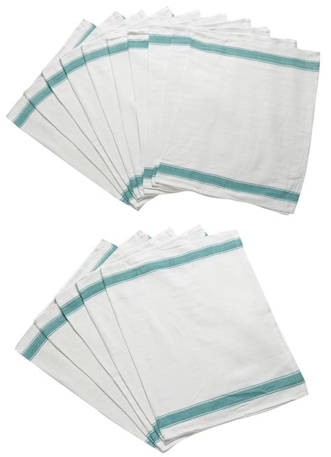 12 new 27oz cotton green stripe herringbone kitchen dish pack of herringbone weave kitchen tea towels absorbent