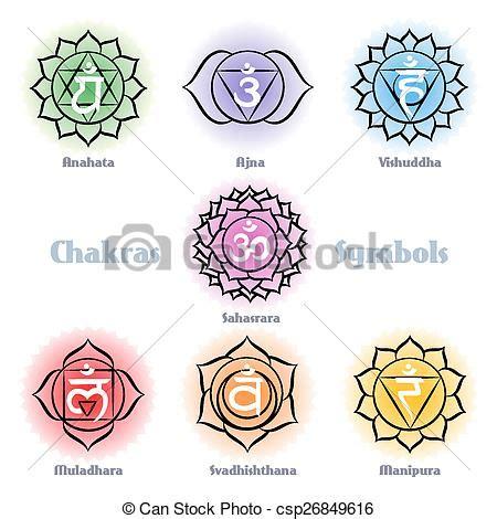 clip art vecteur de symboles vecteur ensemble chakras