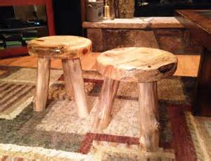 how to make a rustic 3 legged stool