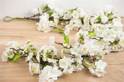 white garlands deluxe white cherry blossom garlands