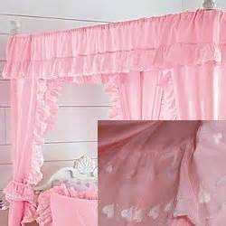 jcpenney pink curtains jc penney solid hearts canopy curtains petal