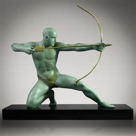Sculpture L by 1930 S Deco Archer Sculpture Signed G Darny Ebay