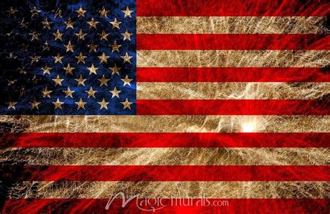 Wall Murals Removable vintage american flag removable murals by magic murals