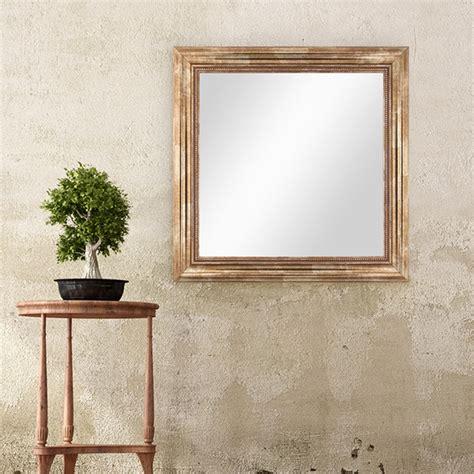 spiegel stil wand spiegel 60x60 cm im massivholz rahmen barock stil
