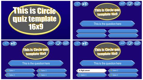 Quiz Template Circle Download Ppt Theme Ppt Quiz Template