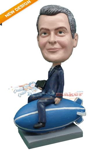 bobblehead gif maker executive on blimp custom bobblehead doll