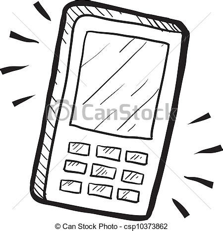 doodle draw windows phone clip vector of mobile phone sketch doodle style