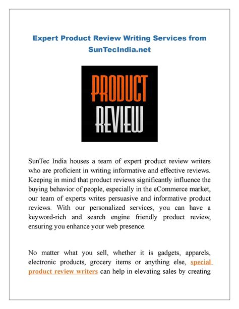 calameo expert product review writing services  suntecindianet
