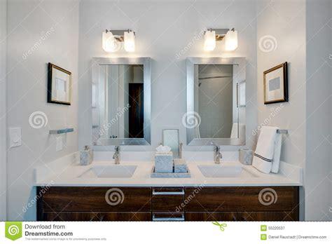stylish bathroom suites modern modern bathroom at hotel resort stock photo image