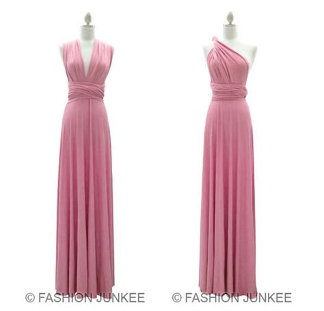 Maxi Manila L Dusty Pink l2 dusty pink multi way dress convertible bridesmaid maxi