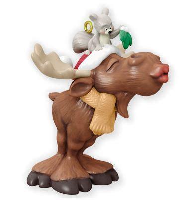 merry kiss moose event exclusive hallmark christmas ornament hooked  hallmark ornaments