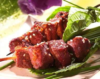 cuisiner les prot駟nes de soja recette brochettes de canard au s 233 same notre recette