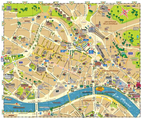 map of the city of liege city center map liege city belgium mappery