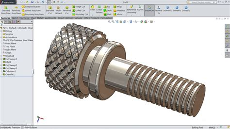 tutorial solidwork assembly solidworks tutorial how to make knurling screw youtube