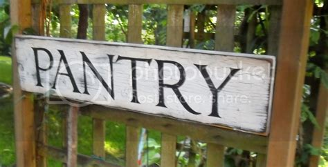 primitive distressed kitchen pantry hand painted wood sign