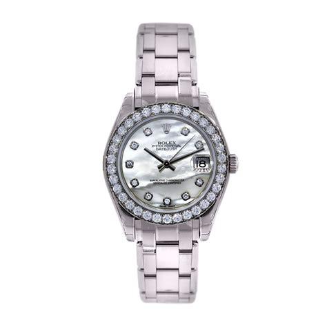 Rolex Masterpiece Midsize 81299 Diamond White Gold Watch Boca Raton
