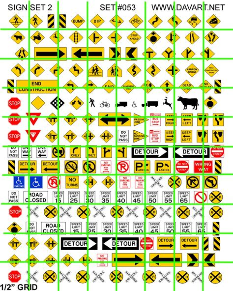 Printable Ho Scale Road Signs