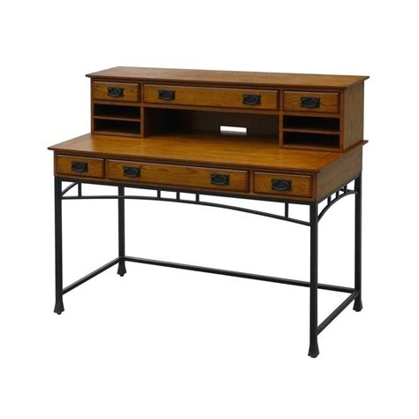 bowery hill computer desk bowery hill computer desk and hutch in distressed oak bh