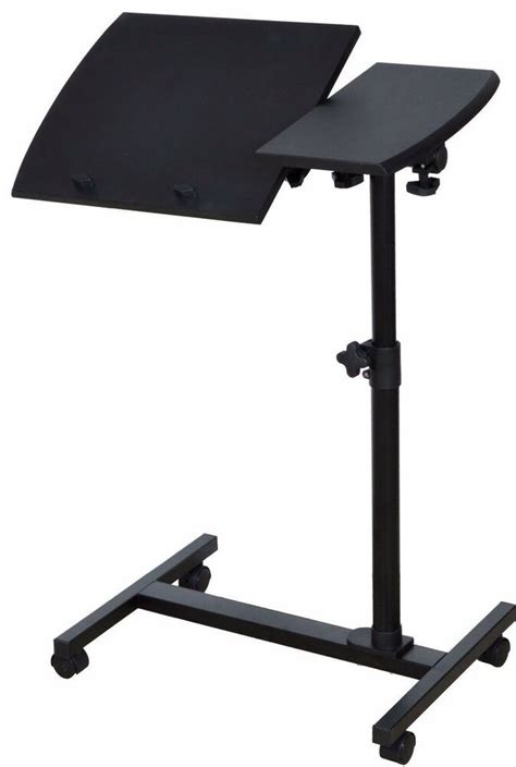 angle height adjustable rolling laptop notebook desk  sofa bed table stand  ebay