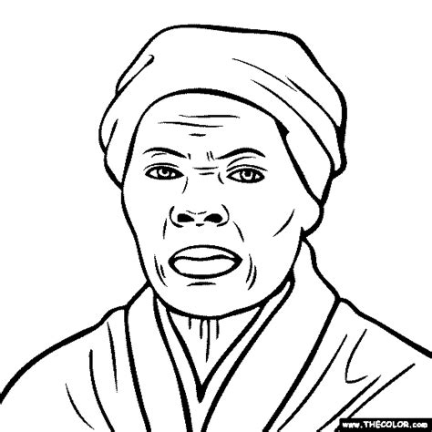 Harriet Tubman Coloring Page coloring pages starting with the letter h page 2