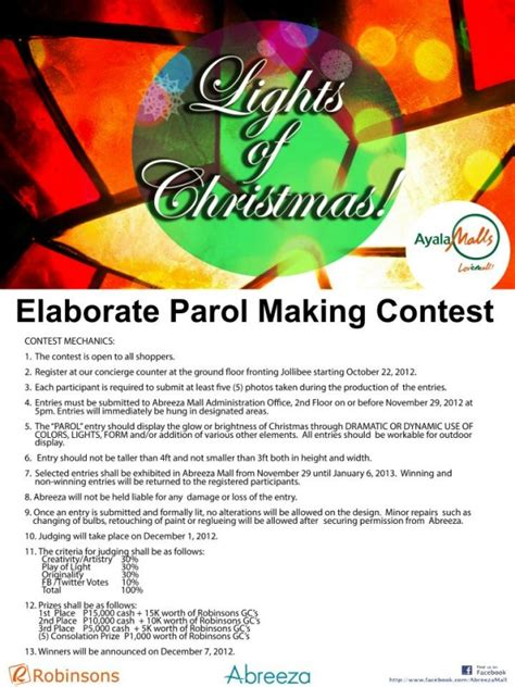 contest philippines parol contests in davao malls davaobase