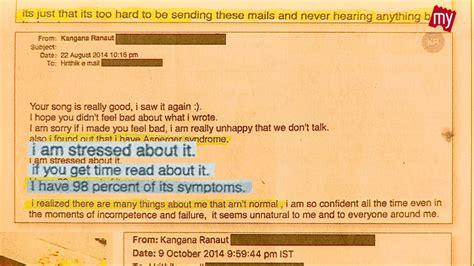 Kangana Ranaut Letters