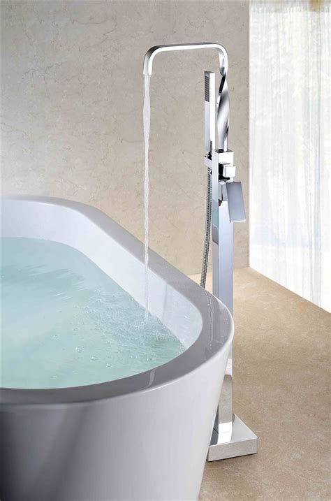 Floor Mounted Tub Faucet by Aqua Floor Mounted Soker Tub Faucet Chrome