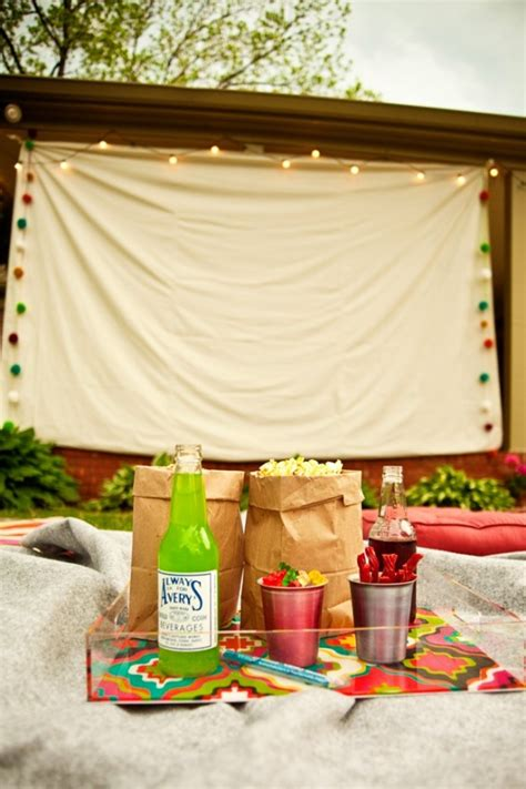 backyard movie party ideas 25 diy ideas for an outdoor movie night