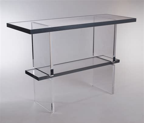 genesis console genesis console table plexi craft signature collection