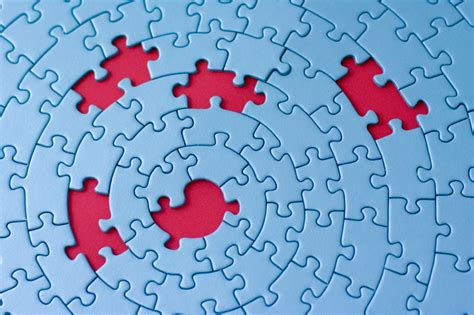 we love jigsaw puzzles the missing piece puzzle company jigsaw in blue with five missing pieces nolo s