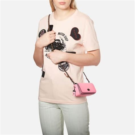 Coach Dinkier With Pink lyst coach s glovetanned leather dinkier cross