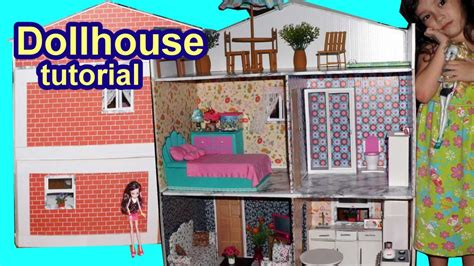 how to make a cardboard house for dolls tutorial how to make a cardboard dollhouse for barbie