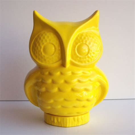 Fruit Flies In Bedroom by Vintage Design Owl Bank Lemon Yellow By Fruitfly Pie Modern Home Decor By Etsy