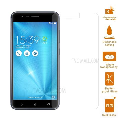 Tempered Glass Asus Zenfone 3 Zoom Ze553kl 0 3mm mobile tempered glass screen protector for asus