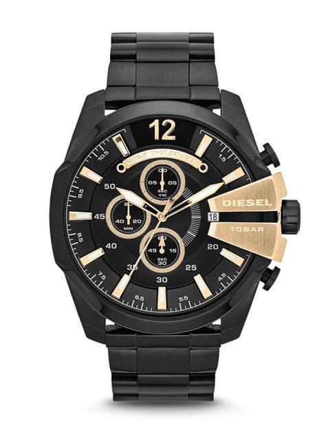 diesel dz4338 mega chief series chronograph in black