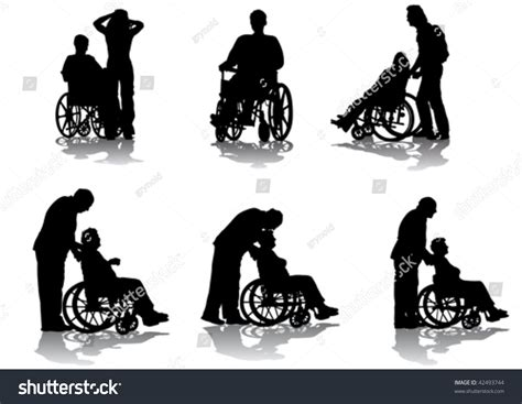 Search By Email Disabled Vector Graphic Disabled In A Wheel Chair Silhouettes On A White Background 42493744