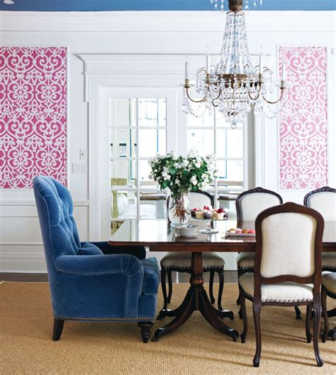 Pink Dining Room by Pink And Blue Dining Room Eclectic Dining Room Style