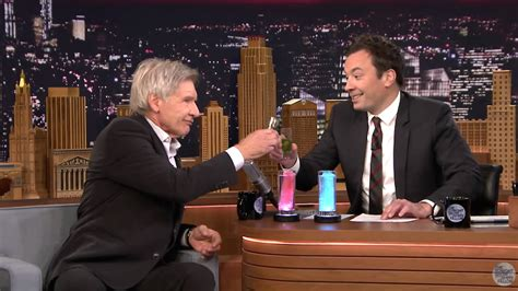 harrison ford fallon harrison ford and jimmy fallon drink light saber