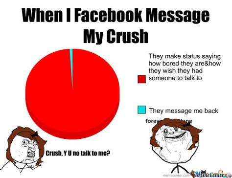 How To Make Facebook Memes - when i facebook message my crush facebook meme