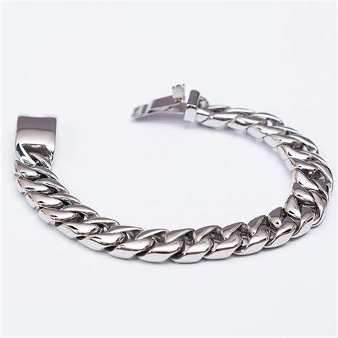 stainless steel heavy wide chain bracelet  crimson savage