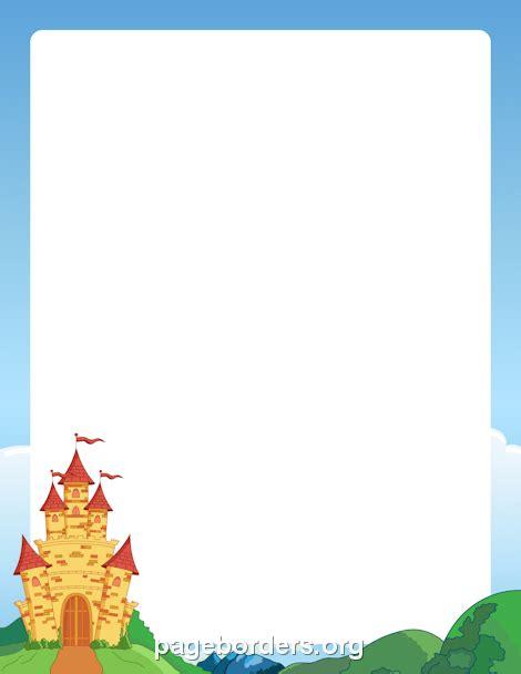 castle border clip art page border  vector graphics