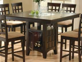Bar Height Dining Room Tables by Coaster Rich Cappuccino Counter Height Table By Dining