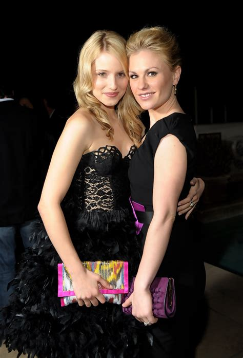 claire danes and anna paquin anna paquin and dianna agron photos audi golden globes