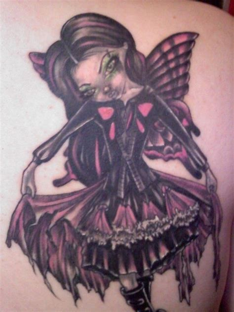 gothic fairy tattoos designs pictures to pin on tattooskid