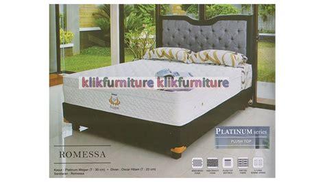 Uniland Kasur Bed Platinum Plushtop Set Golden 180x200 platinum plushtop romessa uniland springbed agen termurah