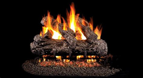 hrg46 30 peterson real fyre rustic oak vented gas logs set