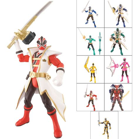 Power Rangers Mega Figure Orginal Bandai Bandai Power Rangers Samurai Figure 11cm 4