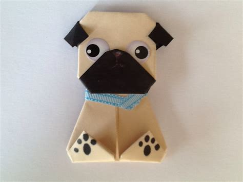 how to make an origami pug pug magnet paper origami magnet light origami pug